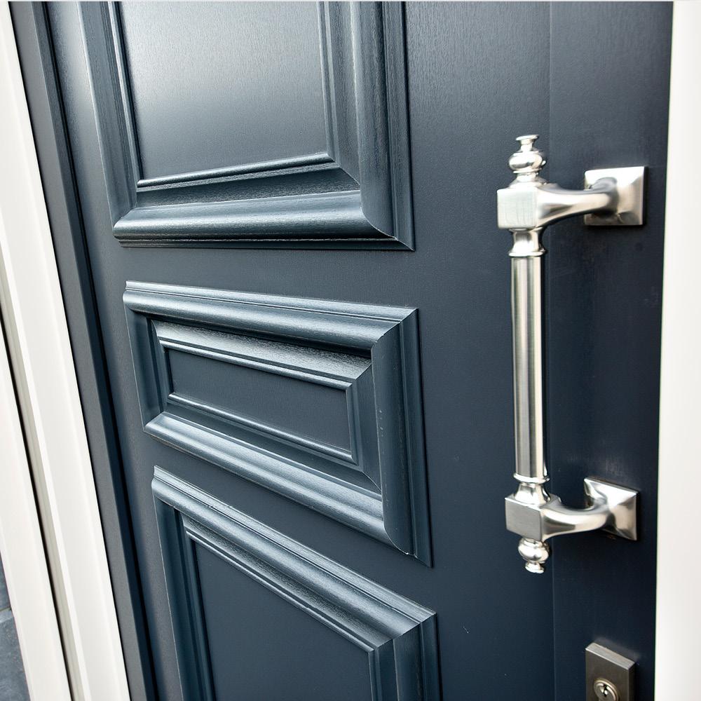 antraciet voordeur mogelijkheid, hout-,aluminium-, kunststof paneel