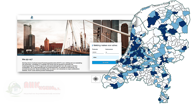 KCAF, funderingsproblematiek Nederland, Kennis Centrum Aanpak Funderingsproblematiek,