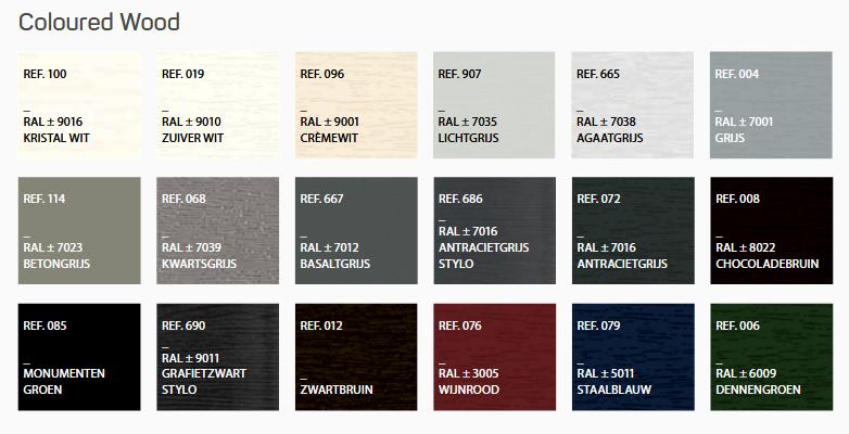 kleuren deceuninck elegant serie